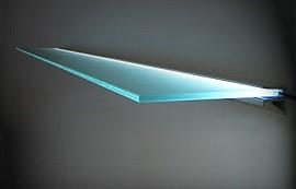 glasplaat met led verlichting