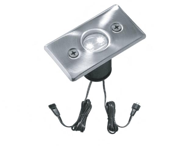 Ledw led grondspot 12 volt vierkant 0 3 watt for Led lampen 0 3 watt
