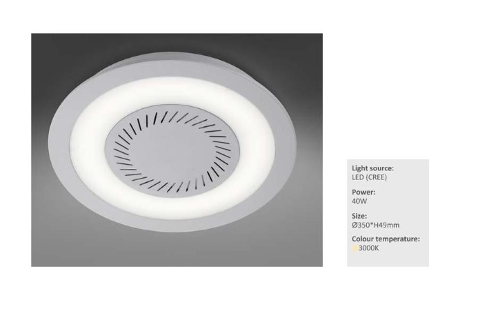 LEDw@re Plafonniere | 40 Watt | 380mm * 40mm | 2500 Lumen | Seal