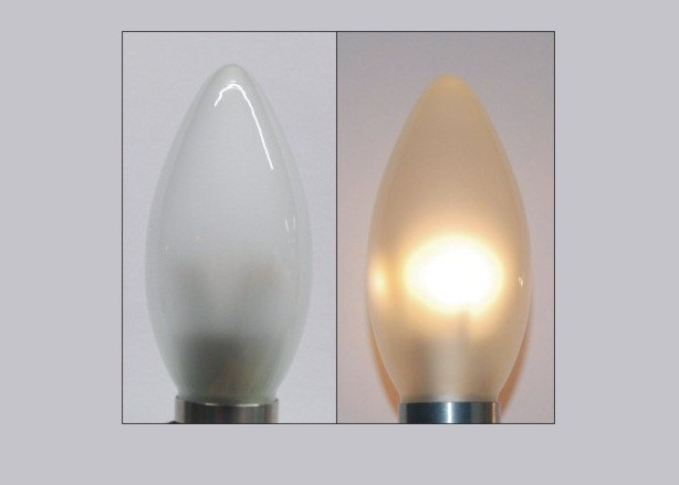 Ledw led kaars lang 230 volt 3 watt vv 15 20 for Lampen 34 volt 3 watt