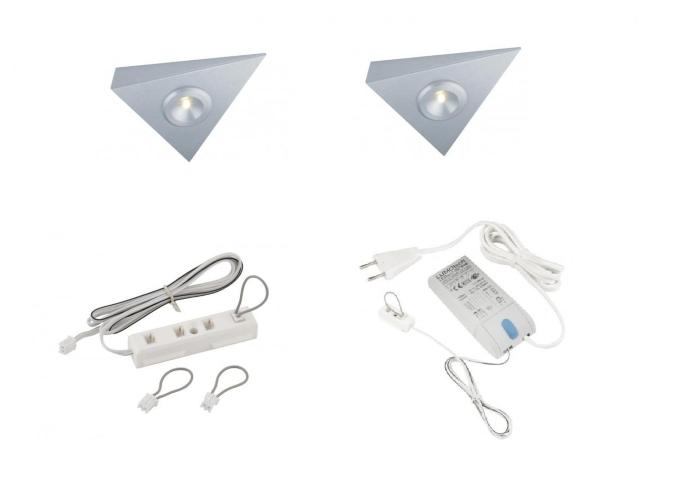 Keuken Aanrecht Strip : LEDware 101A LED driehoek 2 LED spots Doe Zelf LED Kit