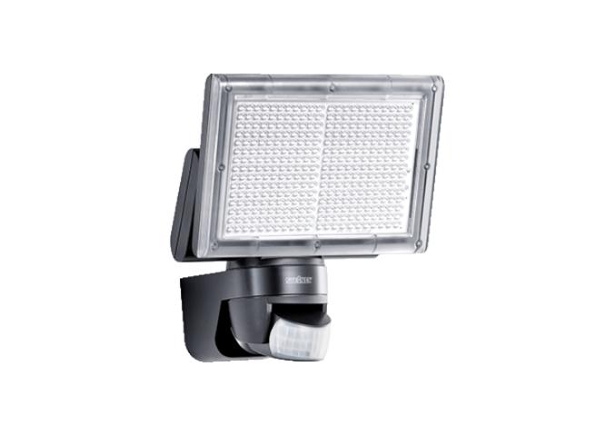 ledw led gevellamp met sensor 230 volt 18 watt 1460 lm zwart. Black Bedroom Furniture Sets. Home Design Ideas