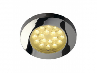 LED inbouwspot | 18 LEDs | Rond | 1,4 W | 12 Volt | Warm Wit | L