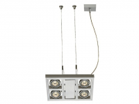LED Hanglamp | AIXLIGHT SQUARE MR16 zilvergrijs 4xGU5,3 | 4 x 5,