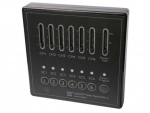 LED Controller | 220 Volt | Fader Panel DMX II, wall mount, 6 ch