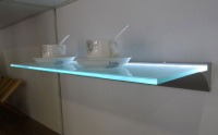 LED Profiel IIII | Glass | 45 x 13  mm | 1 Meter | Glas / PVC 6m