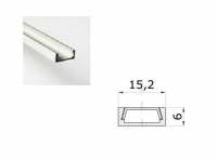 LED Profiel 03 | Small | 15,2 x 6 mm | Opaal, PC, UV Bestendig |