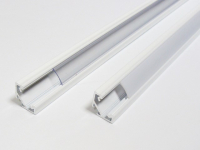 LED Profiel 016 | Hoek | 16,6 x 16,6  x 23,3 mm | Opaal, PC, UV