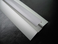 LED Profiel FLAT | RAL 9010 | Frosted, PC, UV Bestendig | 1 Mete