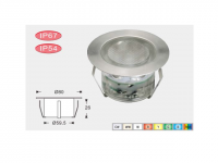 LEDw@re | LED Grondspot | 12 Volt | Rond | 6 x 1 Watt | Warm Wit