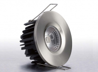LEDware | LED inbouwspot | 1 LEDs | Rond | 8 W | Warm Wit | RVS