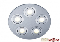 LED inbouwplaat | 5 LEDs | Rond | Lumoluce R150