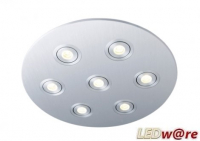 LED inbouwplaat | 7 LEDs | Rond | Lumoluce R260