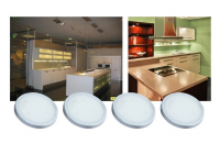 LEDware | LED Kastverlichting set | 4 Lampjes | 4 x 1,5 Watt | R